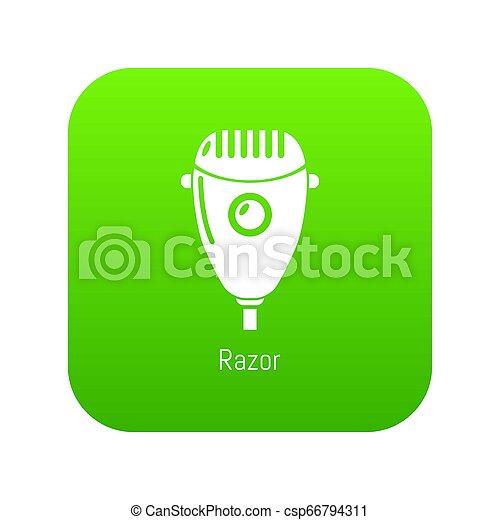 Razor icon green - csp66794311