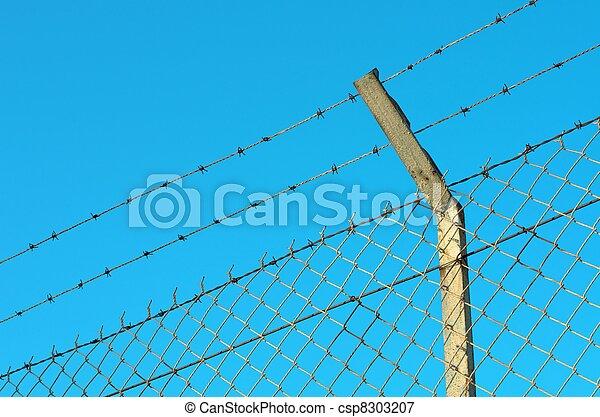Razor wire fence - csp8303207