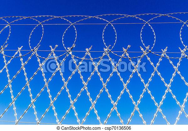 Razor Wire Fence - csp70136506