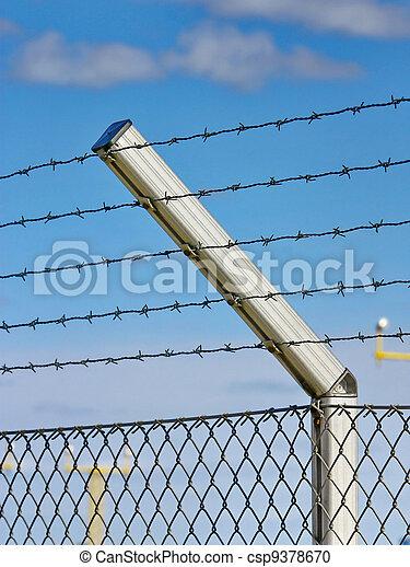 razor wire fence - csp9378670