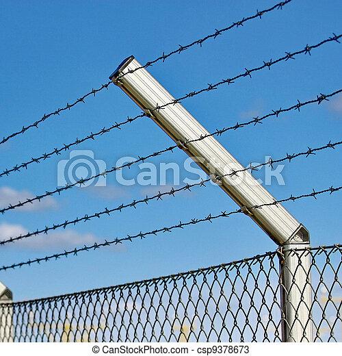 razor wire fence - csp9378673
