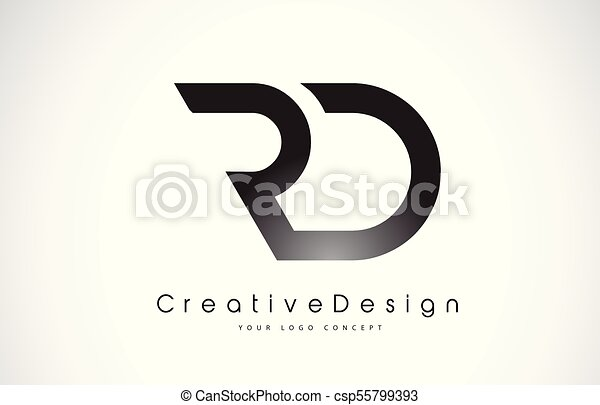 rd r d letter logo design creative icon modern letters vector logo