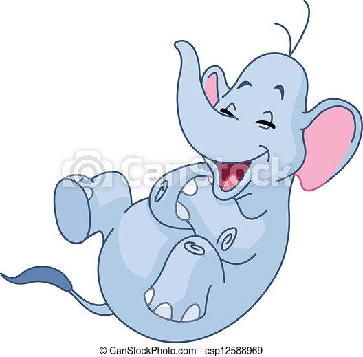 El elefante sonriente - csp12588969