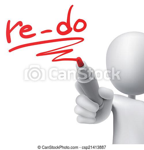 re-do written by a man - csp21413887
