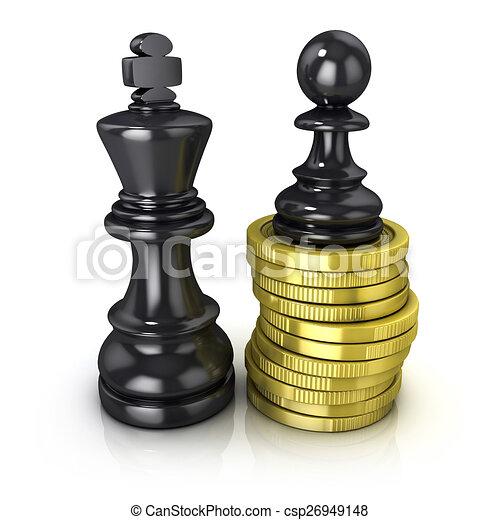 re, monete, pegno nero - csp26949148