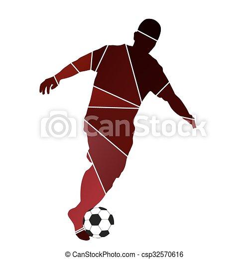Re Rennender Fussball Ball Spieler