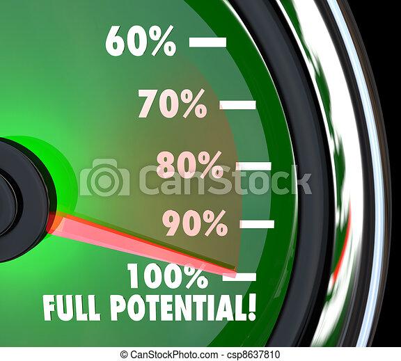 Reaching Full Potential Speedometer Tracking Goal - csp8637810