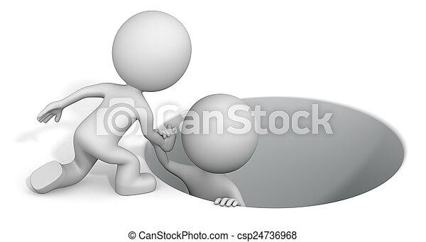 Reaching hand. - csp24736968
