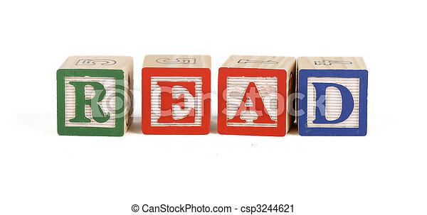 Read - Alphabet blocks - csp3244621