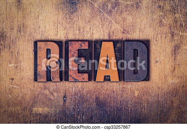 Read Concept Wooden Letterpress Type