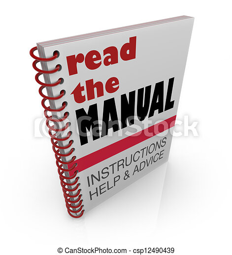Read the Manual Book Instructions Help Advice - csp12490439
