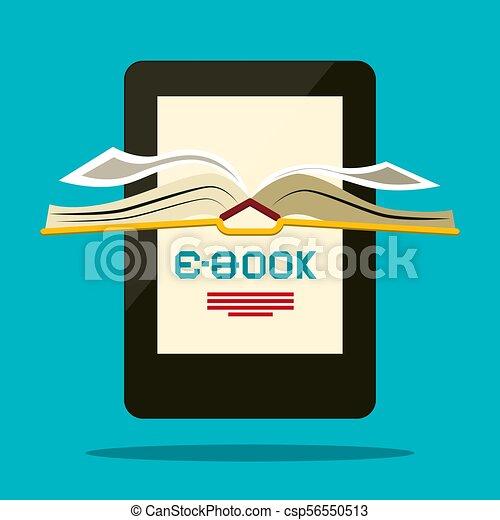 Lector de libros. El símbolo del libro Vector. - csp56550513