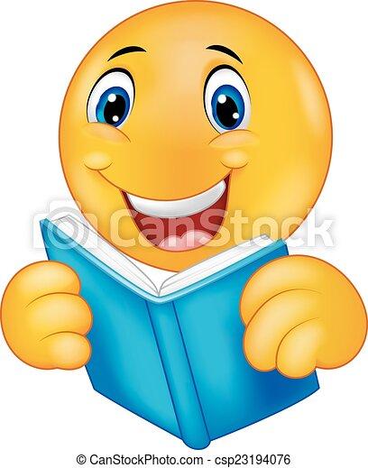readi, felice, cartone animato, smiley, emoticon - csp23194076