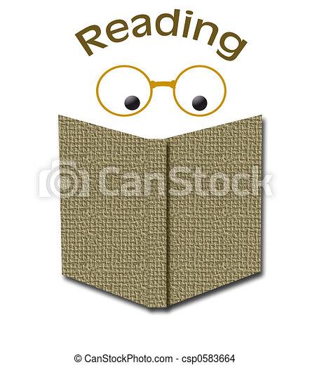 reading books - csp0583664