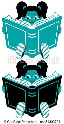 Reading Girl 2 - csp51393794