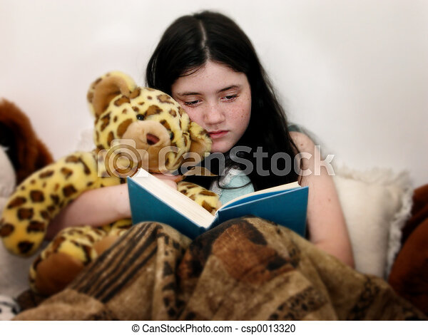 Reading In Bed - csp0013320