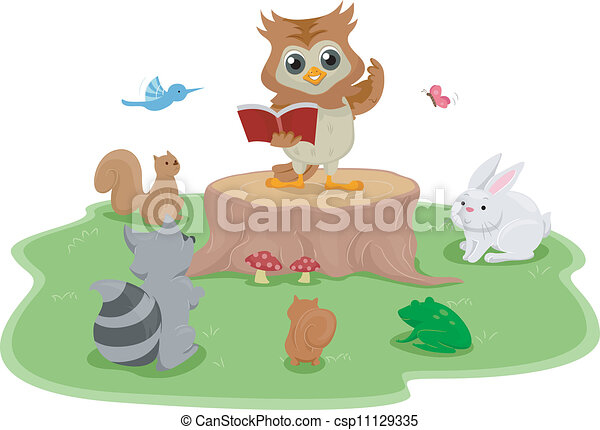 Reading Owl - csp11129335
