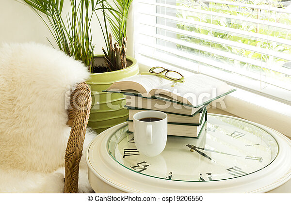 Reading Time with Coffee - csp19206550
