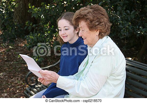Reading With Grandma - csp0218570