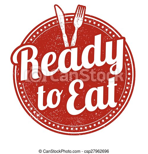 Ready to eat stamp. Ready to eat grunge rubber stamp on ...
