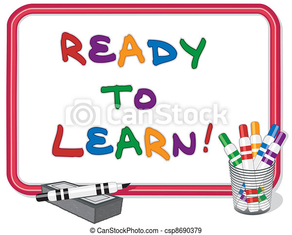 Ready To Learn Whiteboard - csp8690379