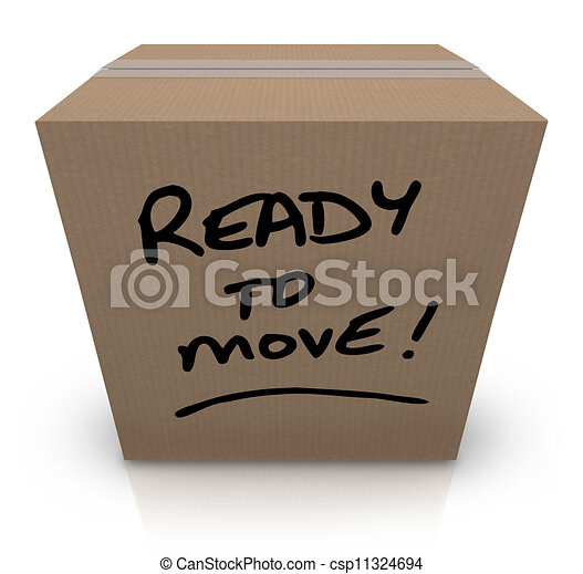 Ready to Move Cardboard Box Moving Relocation - csp11324694