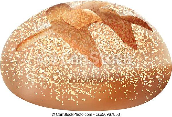 realístico, 3d, isolado, pão - csp56967858