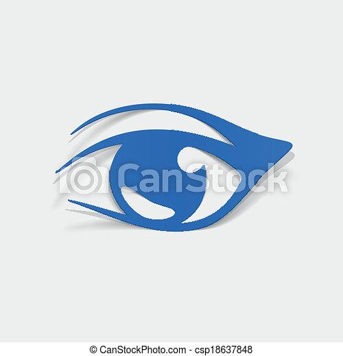 realístico, element:, desenho, olho - csp18637848