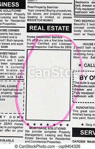 real, anúncio, propriedade - csp9404326