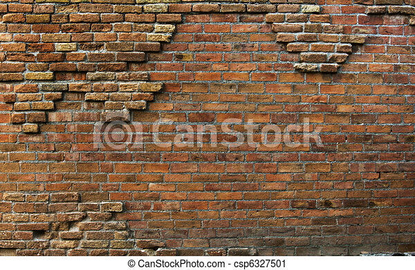 Real beautiful vintage rusty background wall - csp6327501