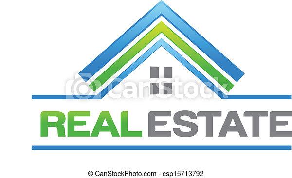 real, casa, propriedade, logotipo - csp15713792