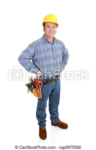 Real Construction Worker - Confident - csp0975592