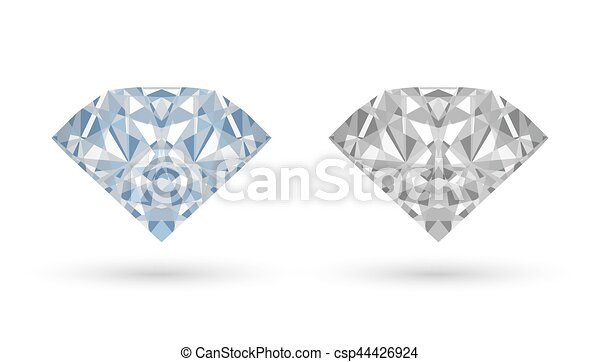 real diamond vector on a white background - csp44426924