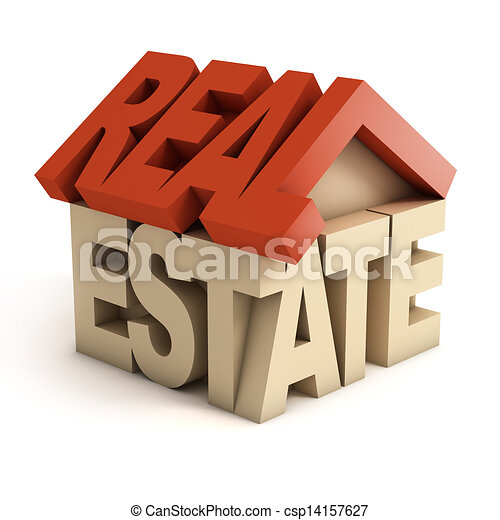 real estate 3d icon - csp14157627