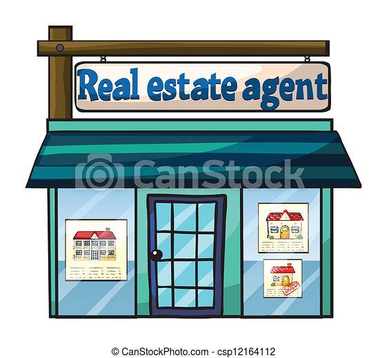 Real estate agent 39 s office illustration of real estate for Clipart estate