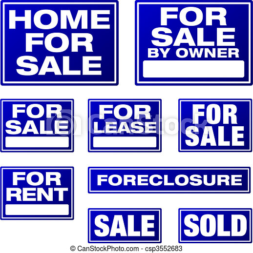 Real Estate and Business Vector Signs - csp3552683