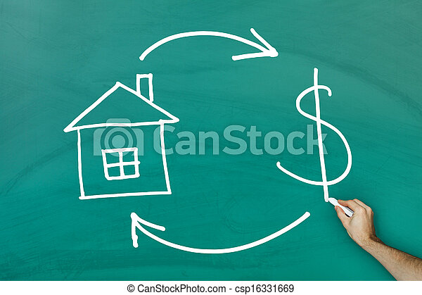 Real Estate and Cash concept - csp16331669