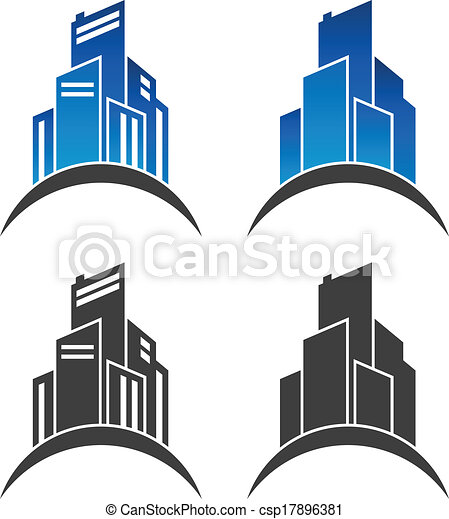 Real Estate Building Icons - csp17896381