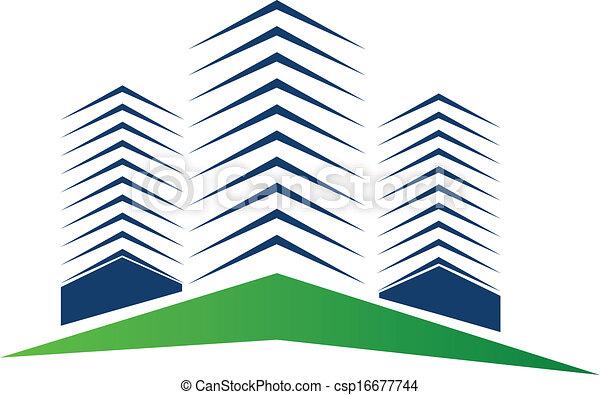 Real estate buildings logo - csp16677744