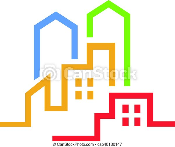 an amazing real estate business symbol illustration eps vector rh canstockphoto com real estate clipart free download real estate clipart images