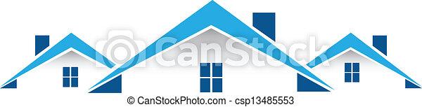 Real estate card logo vector - csp13485553