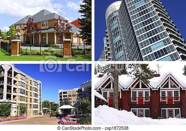 Real estate collage - csp1872538