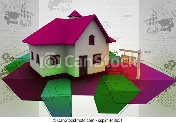 Real estate concept - csp21443651