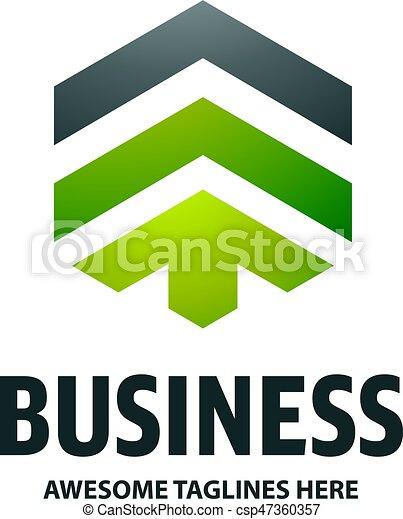 Real Estate Development With Arrow Logo Concept Icon Building Logo