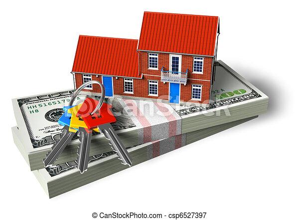 Real estate financial concept - csp6527397