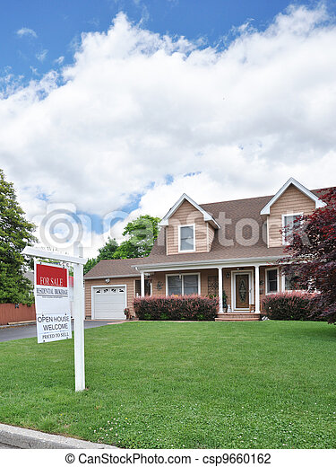 Real Estate For Sale Sign - csp9660162