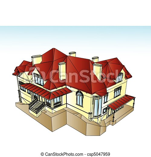 Real Estate For Sale. Vector illustration - csp5047959
