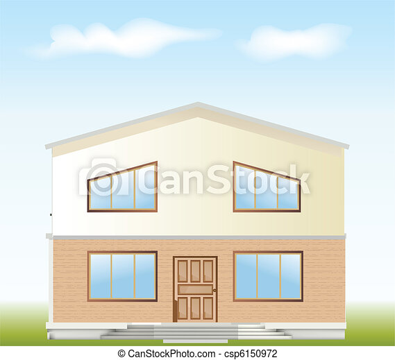 Real Estate For Sale. Vector facade - csp6150972