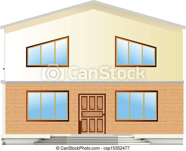 Real Estate For Sale. Vector facade - csp15352477