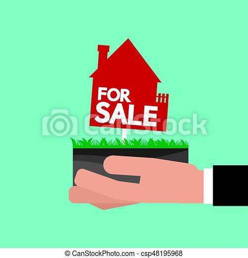 Real Estate For Sale Vector Illustration - csp48195968